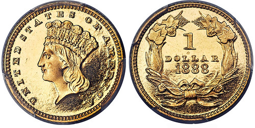 1888 Proof Gold Dollar