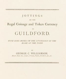 Regal Coinage and Token Currency of Guildford