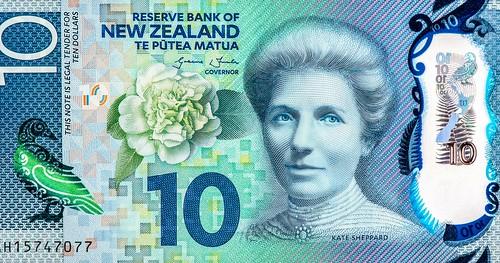New Zealand Kate Sheppard 10 dollar note
