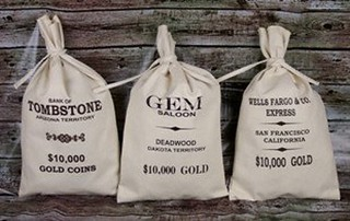 Old West Style bank bags