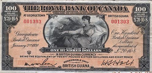 1920 Royal Bank of Canada $100 note