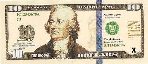 Pearson $10 face