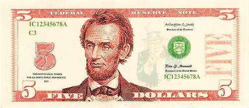 Pearson $5 face