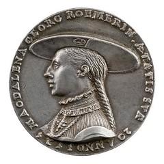 MAGDALENA WELZER ROEMERIN medal obverse