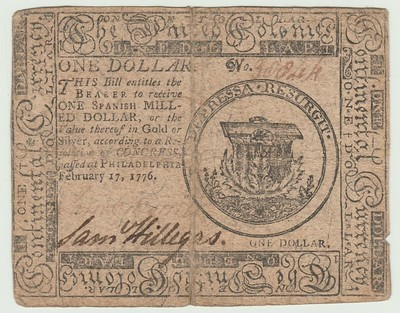 Sam Hillegas colonial note