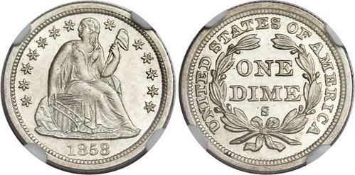 Eliasberg 1858-S Dime