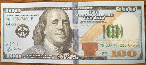 100 dollar Motion picture note
