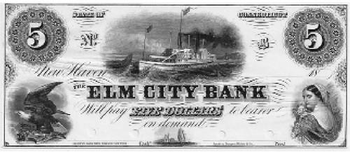 Elm City Bank Five Dollar note