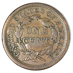 Pittsburgh Large Cent Counterstamp reverse