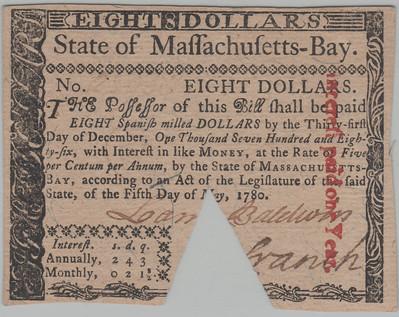 Colonel Loammi Baldwin colonial note