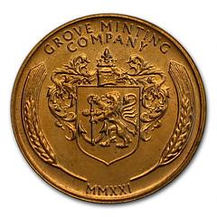 Grove Minting 1955 Lincoln Cent replica reverse
