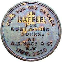 Sage Numismatic Books token reverse