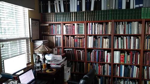Wayne Homren desk and library