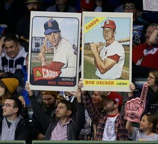 Baseball card signs