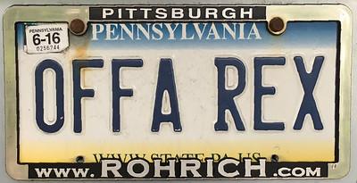 Offa Rex license plate