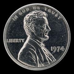 1974 1c aluminum obverse