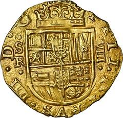 Seville gold cob 8 escudos obverse