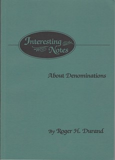 Durand Interesting Notes About Denominations book cover