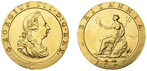 DNW Ian Sawden sale Lot 019  1 A 1797 Cartwheel proof gold penny