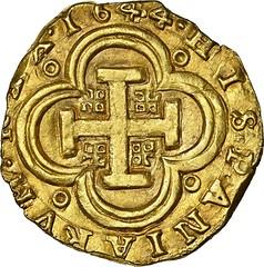 Seville gold cob 8 escudos reverse
