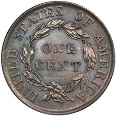 1818 Large Cent reverse