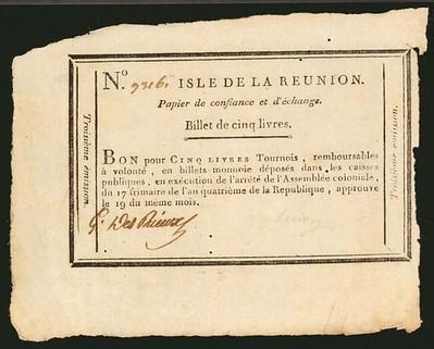 1795 France Isles 5 Livres