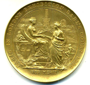London exhibition medal obverse