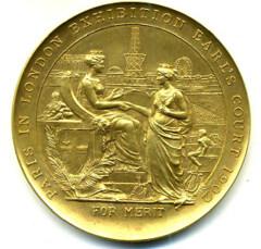 London exhibition medal obverse