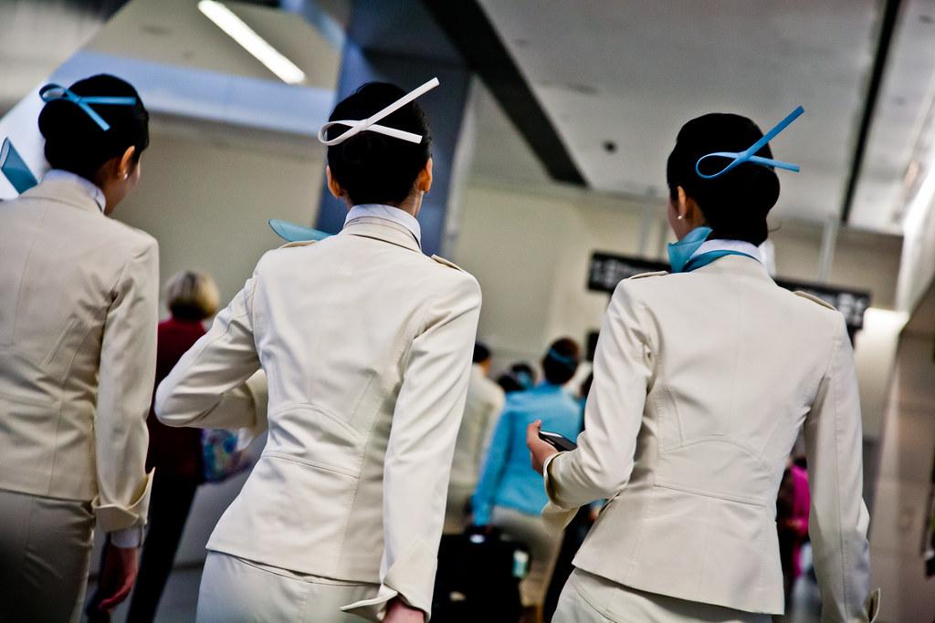Korean Air Flight Attendants Sfo Doug Pearl Flickr