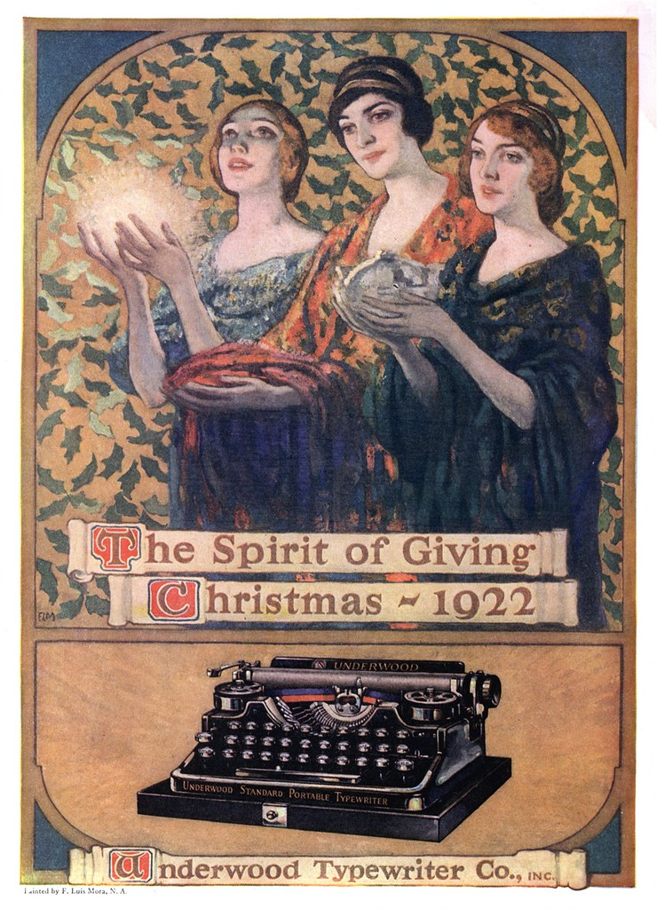 Underwood Typewriter Company - published in The Literary Digest - December 2, 1922