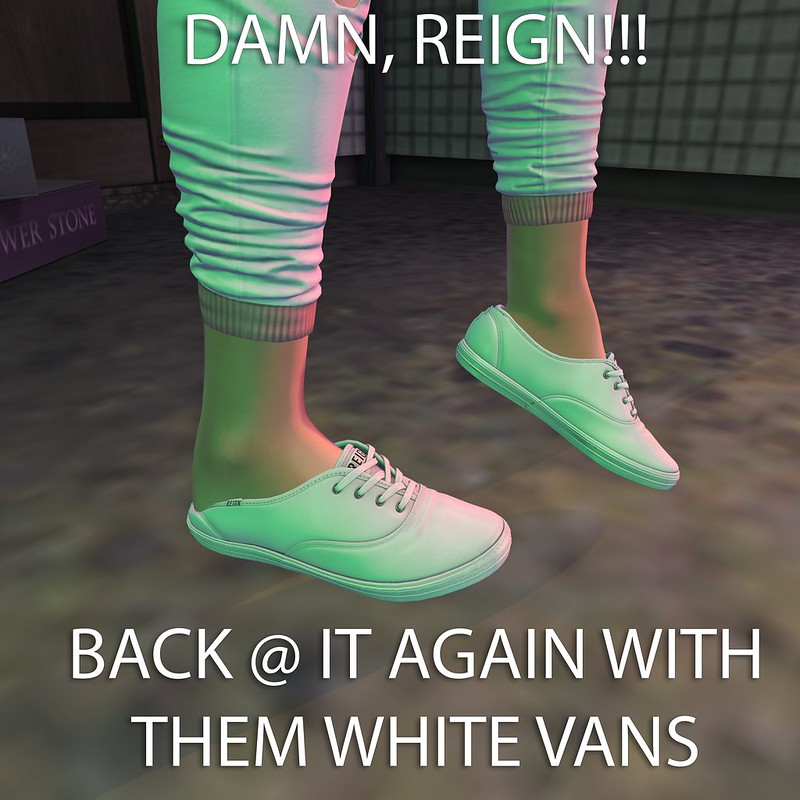 DAMN REIGN!!! BACK AT IT AGAIN WITH THEM WHITE VANS