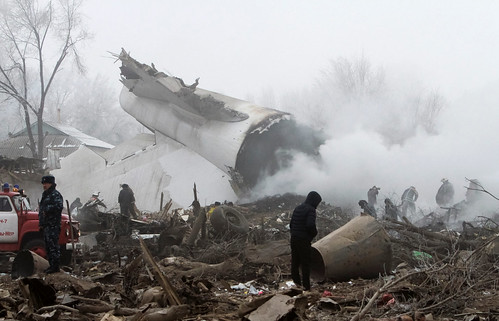 Cargo plane's deadly crash in Kyrgyzstan