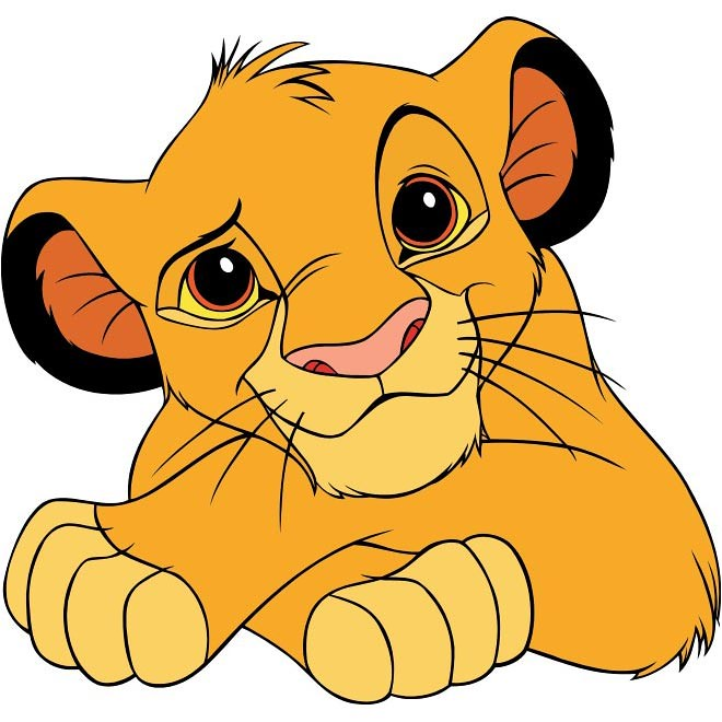 Cartoon Character Design Vector : Free vector simba cartoon character