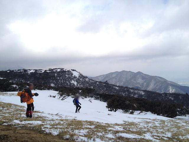 入道ヶ岳 山頂より雲母峰