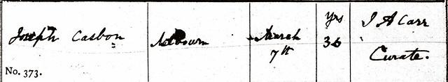1847 Joseph Casbon Bu Meld