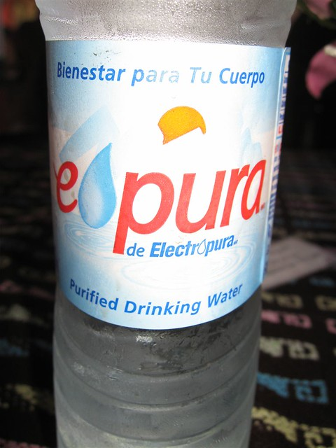 Mexican bottled water ...
