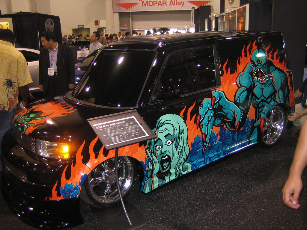 New Car >> Crazy paint job for Fancy car, | A variation in the theme of… | Flickr