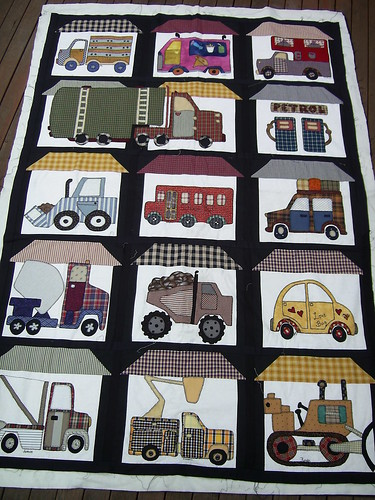 Truck Quilt For Hamish I Made This For My Son When He