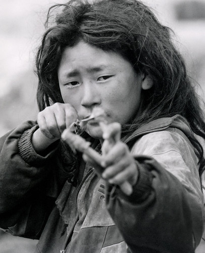 Tibetan Boy With Slingshot | by pauldistefano