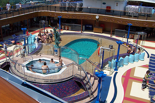 Carnival Miracle Swimming Pool One Of The Pools On The