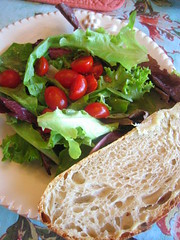 mixed_greens_cherry_tomatoes_ciabatta | by tofu666