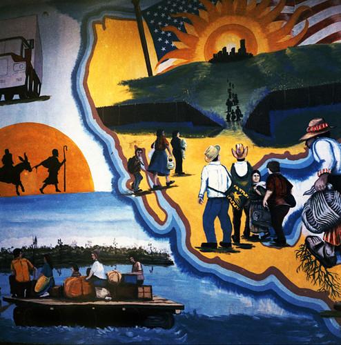 Mural Tecun Uman The Long Rugged Border Between Mexico