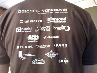 Awesome BarCamp Vancouver Shirts - Roland in Vancouver (131) | by roland