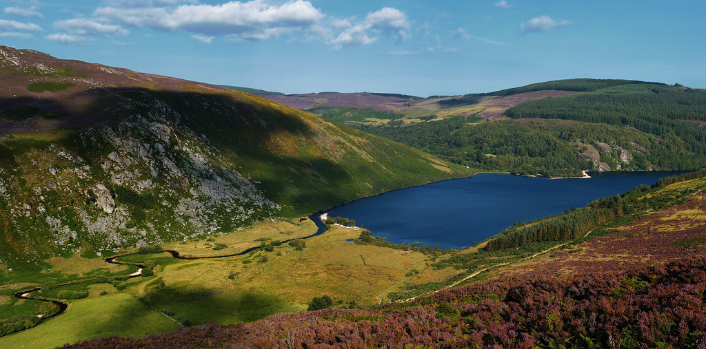 The Inchavore river valley and Lough Dan, County Wicklow ...