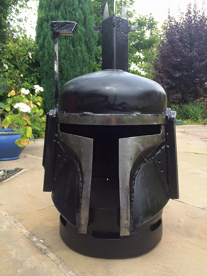 Wood burners & fire pits by Burned by Design - Star Wars Boba Fett