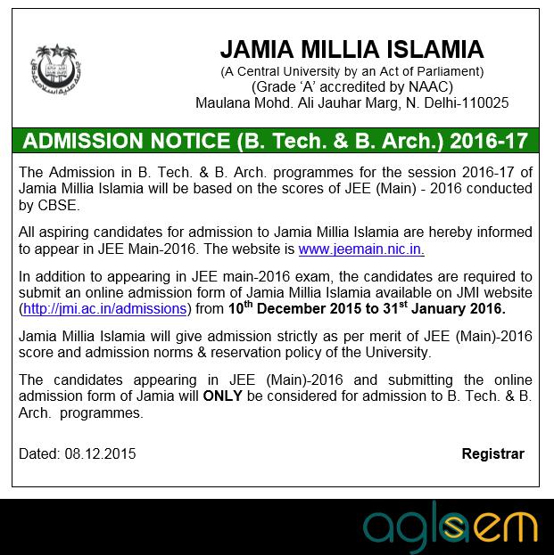 JMI Engineering Admission
