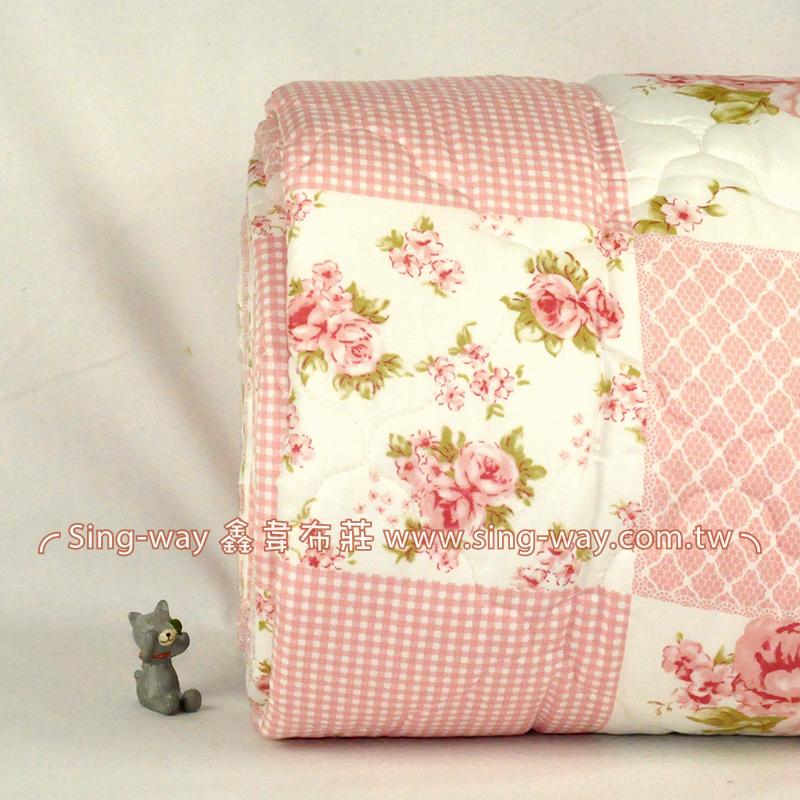 【限宅配】 粉玫瑰寄情花語 鄉村薔薇 精梳棉鋪棉床品床單布料 B990084