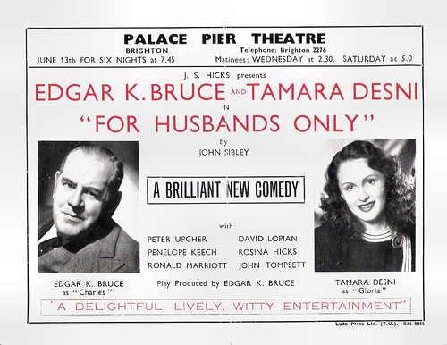 Tamara Desni and Edgar K. Bruce in For husbands only (1949)