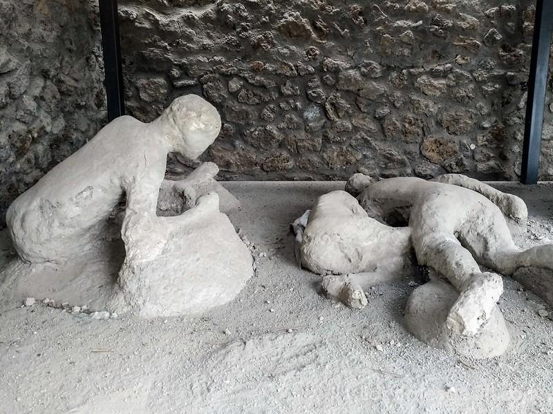 visita a Pompeya cadáveres del huerto de los fugitivos
