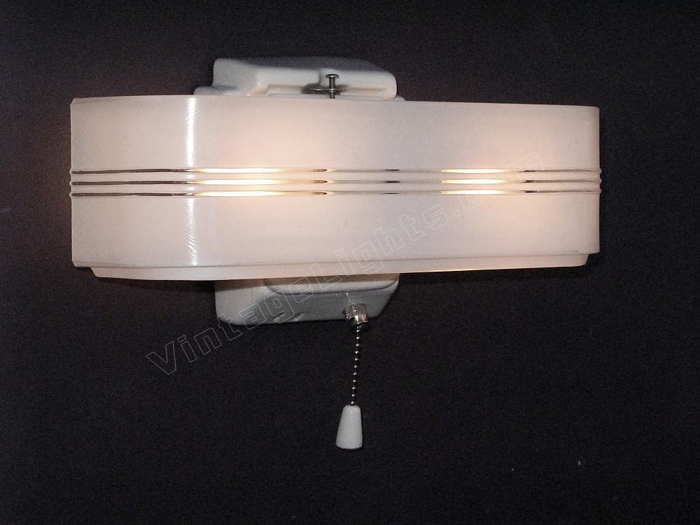 *vintage 2 Bulb Porcelain Bathroom Fixture